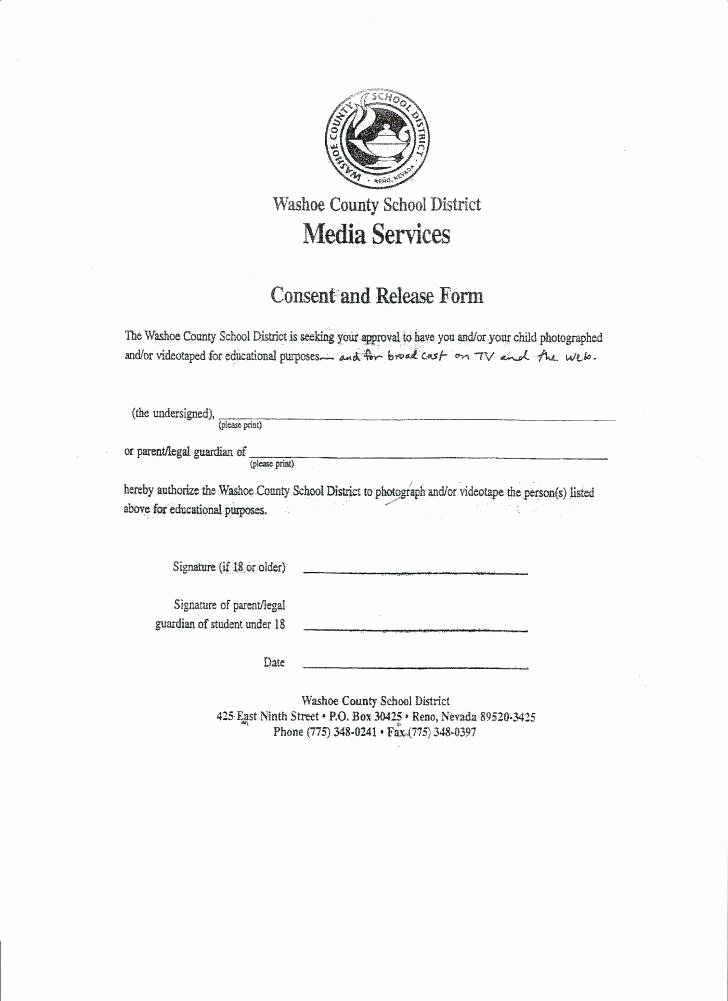 Media Consent form Template – Flybymedia