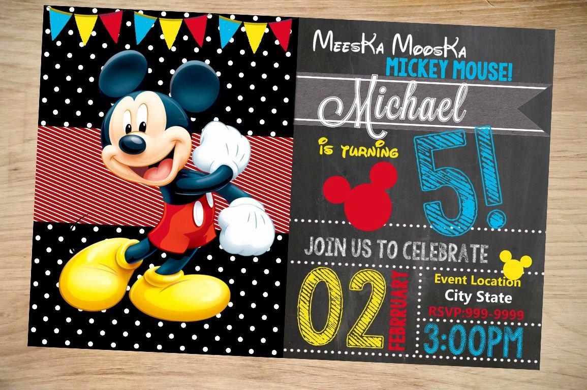 Mickey Mouse Birthday Invitation Birthday Invitation