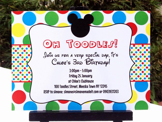 Mickey Mouse Clubhouse Printable Invitation & Party