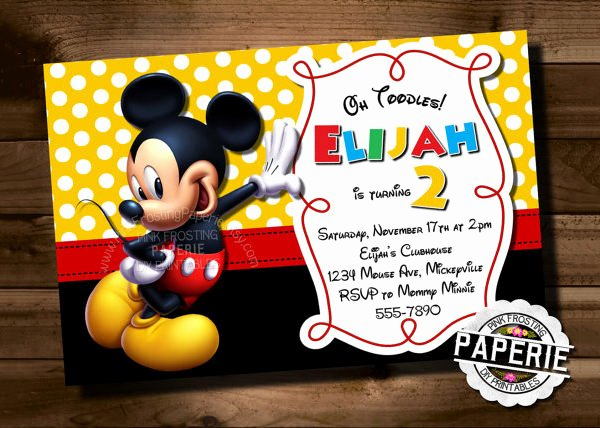 Mickey Mouse Invitation Template – 23 Free Psd Vector