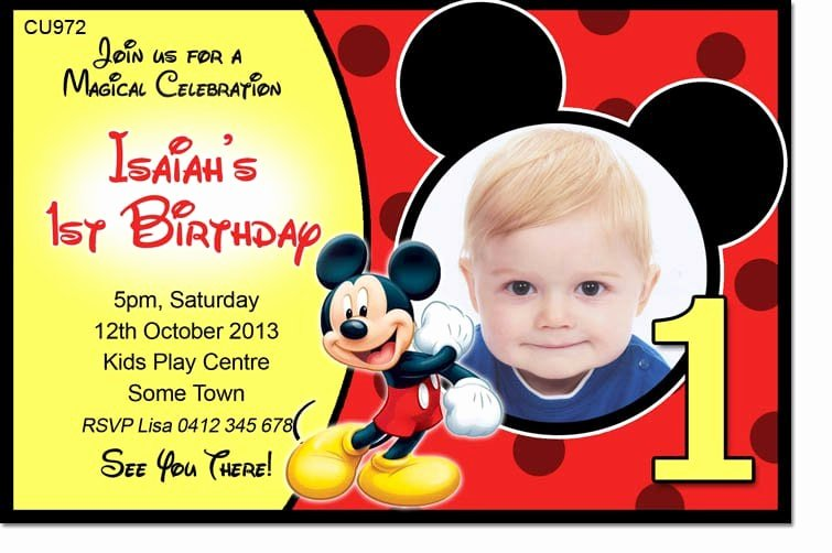 Mickey Mouse Invitation Template Free Download