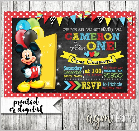 Mickey Mouse Invitation Templates – 29 Free Psd Vector