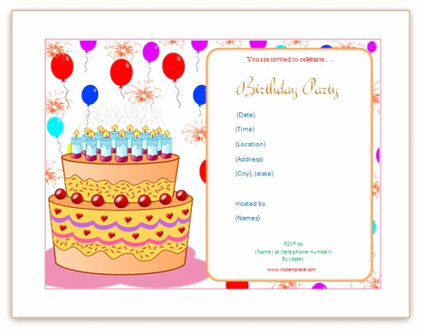 Microsoft Word Templates Birthday Invitation Templates
