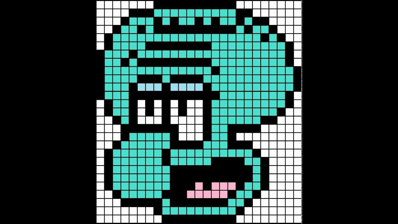 Minecraft Pixel Art Template Squidward