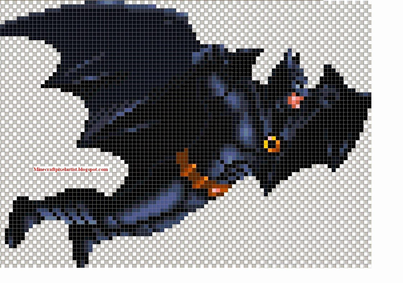 Minecraft Pixel Art Templates and Tutorials Batman