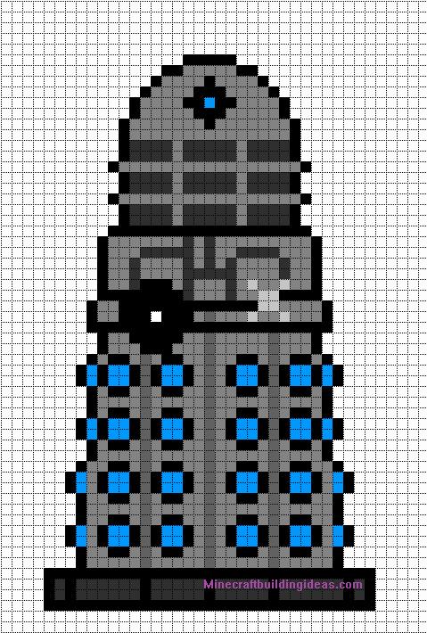Minecraft Pixel Art Templates Dalek Doctor who