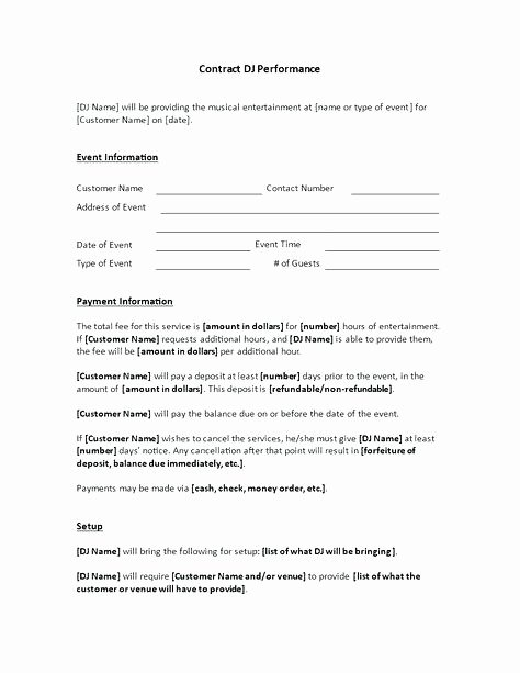 Mobile Dj Contract Template – Miyamufo