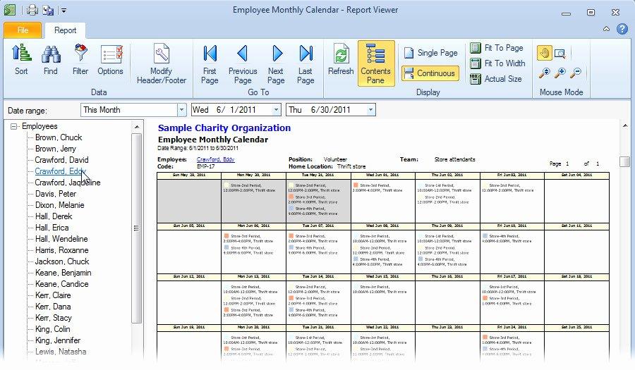 Monthly Employee Schedule Template Excel Schedule