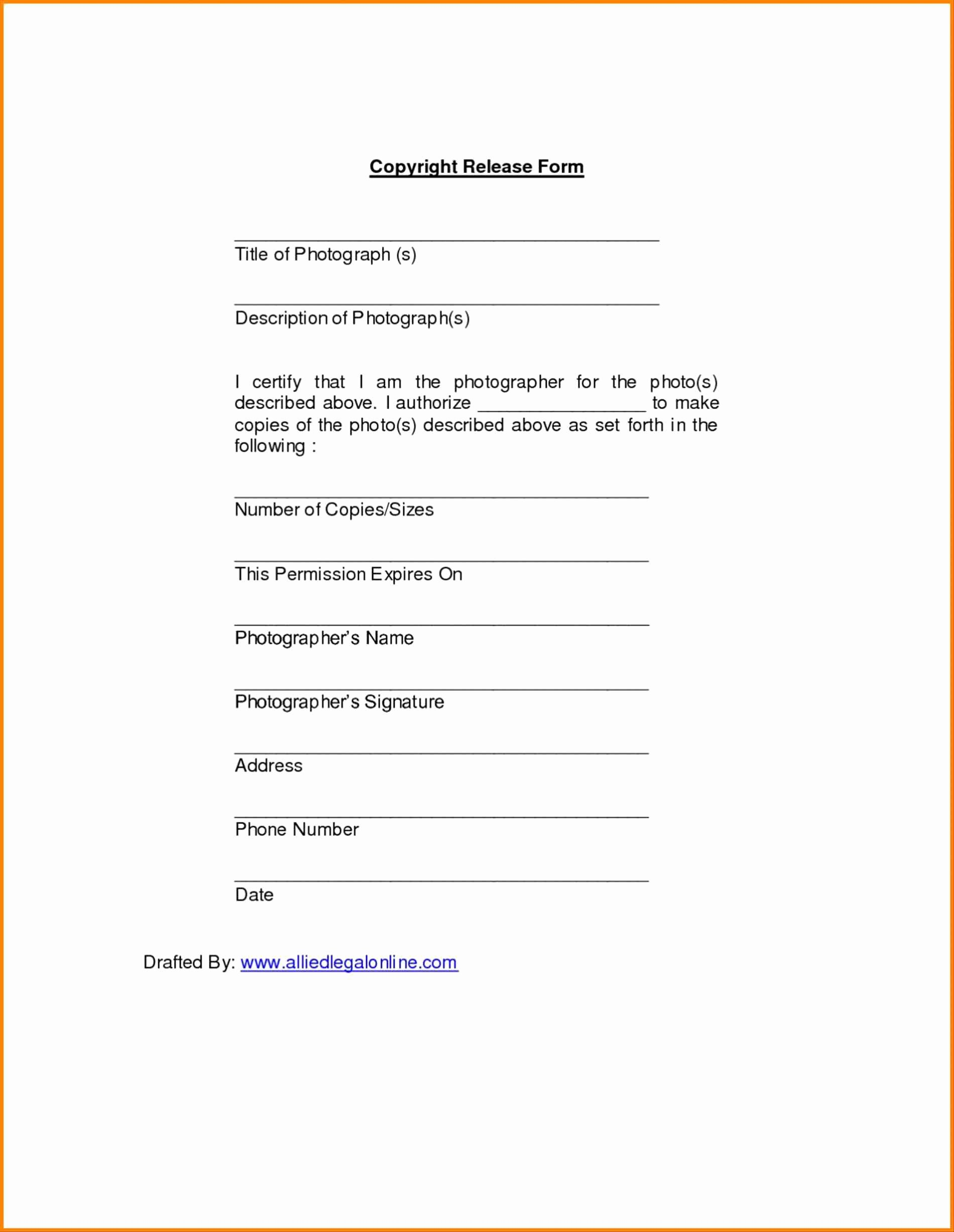 Music Video Release form Template form Free for Photos