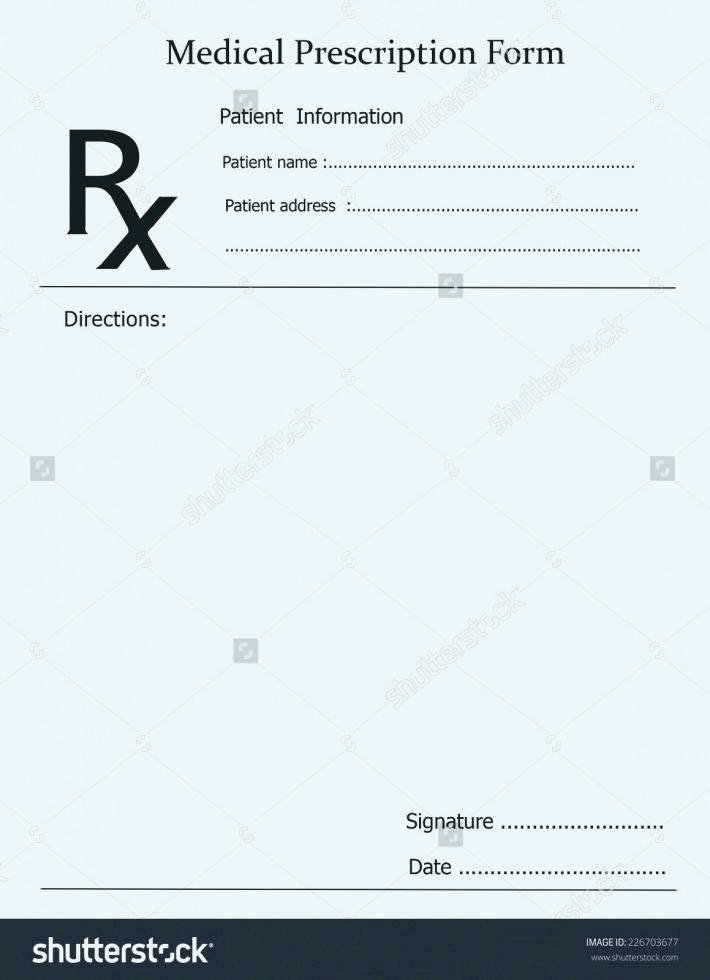 Nice Prescription Pad Template Prescription Pad