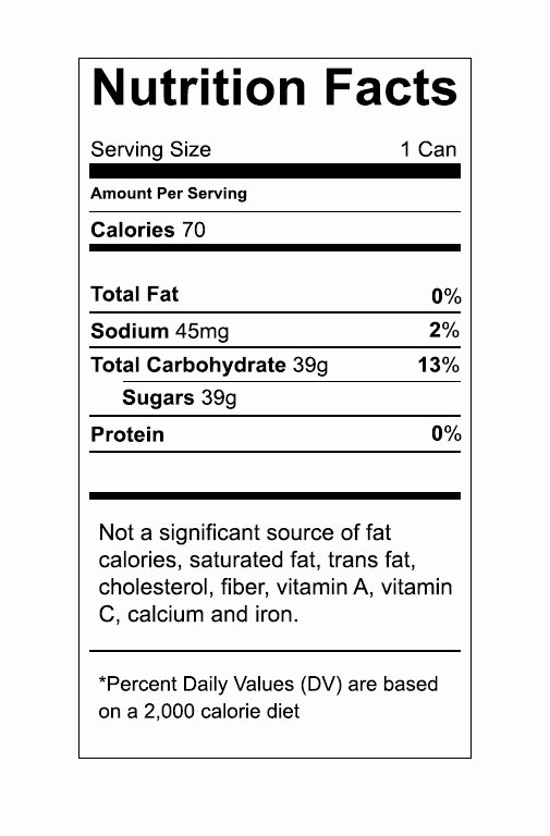 Nutritional Label Template – Nutrition Ftempo