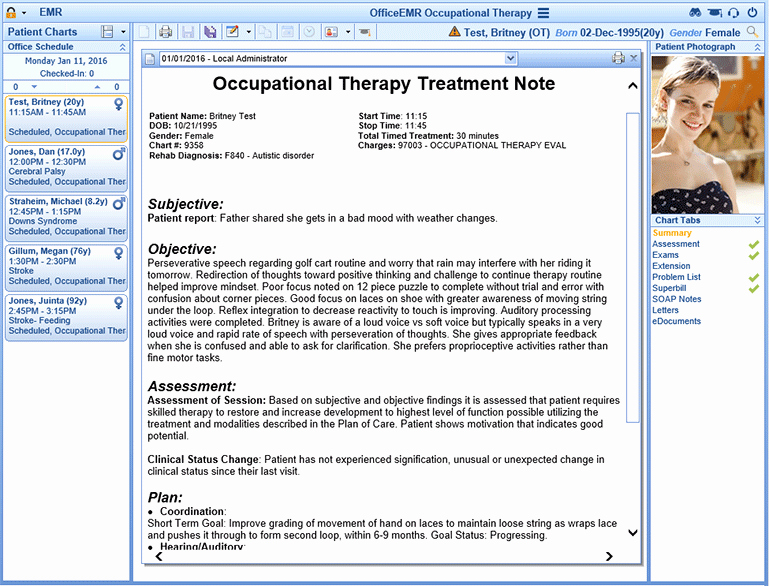 Occupational therapy Ehr & Billing software isalus