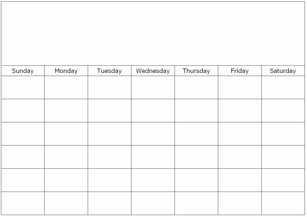 One 2016 Month Blank Calendar Template