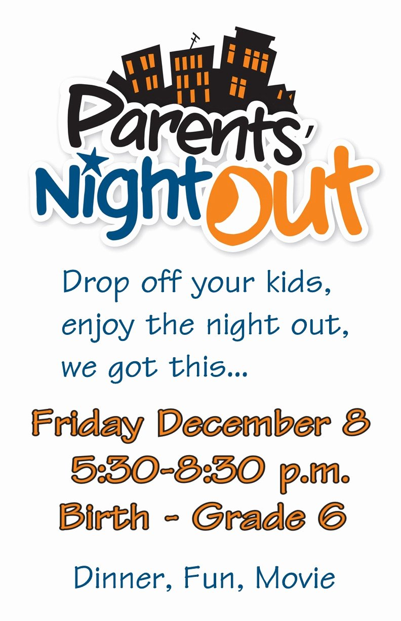 Parents Night Out Flyer Template to Pin On