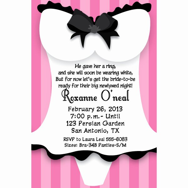 Party Invitation Templates Lingerie Party Invitations