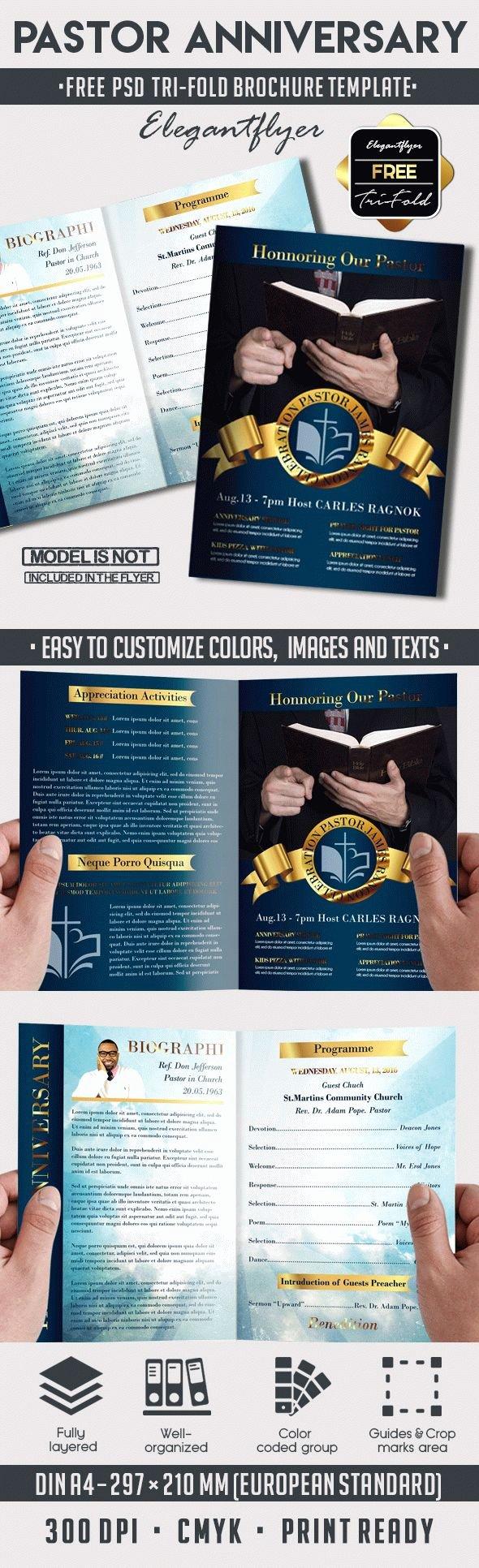 Pastor Anniversary Free Brochure Program – by Elegantflyer