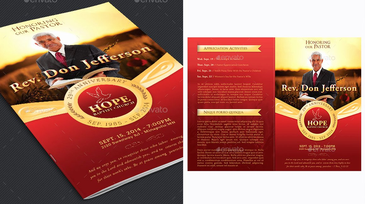 Pastor Anniversary Program Templates Choice Image