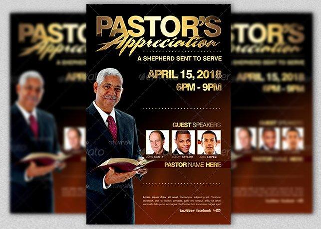 Pastors Appreciation Flyer Template