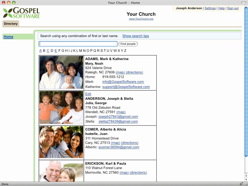Pin Church Members Directory Template Ajilbab Portal On