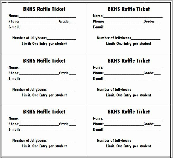 "Pin Free Printable Raffle Tickets €"" On Pinterest"