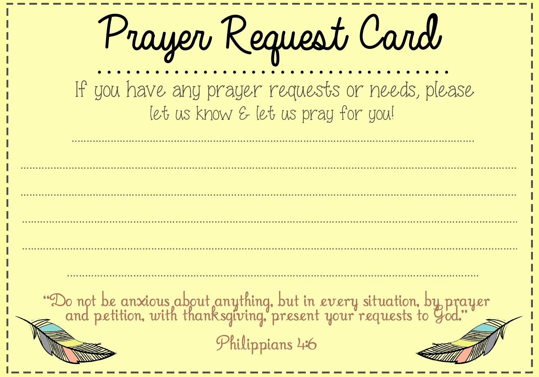 Prayer Request Card Idea Mops Pinterest