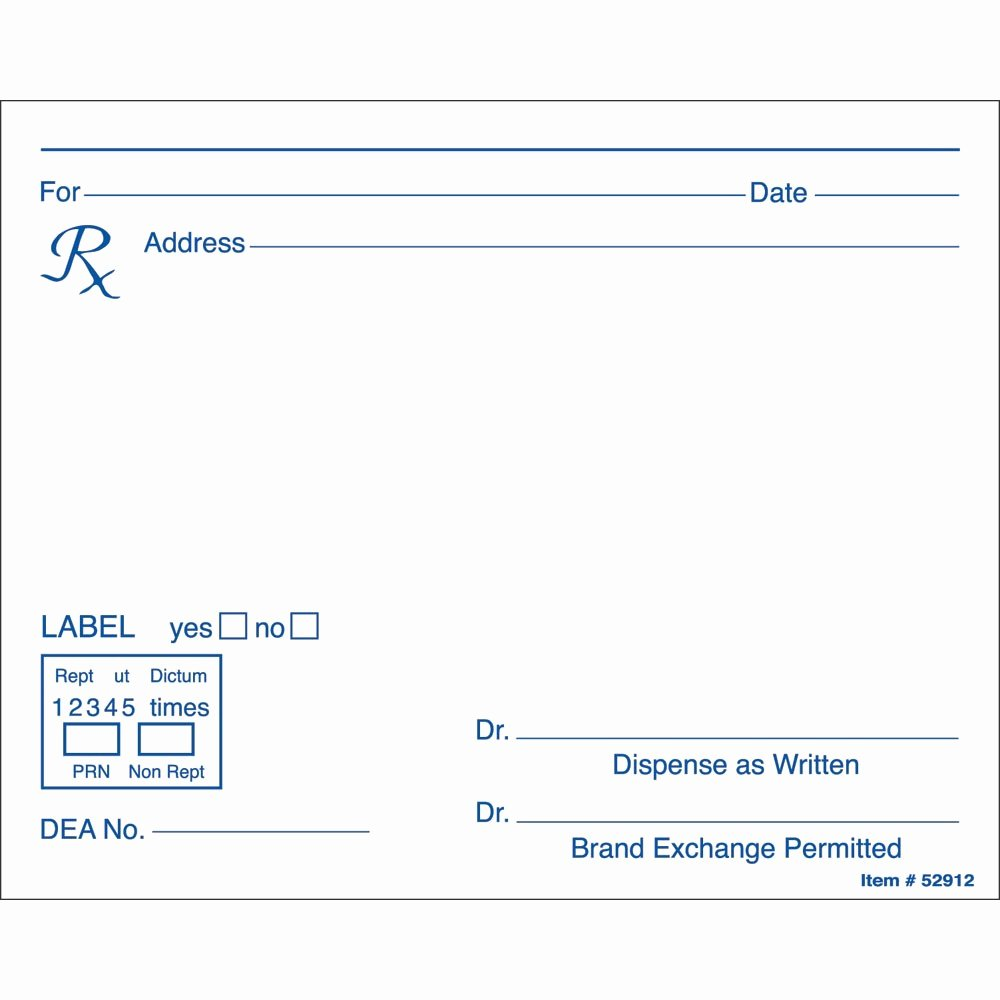Prescription Pad Template Microsoft Word Example Resume