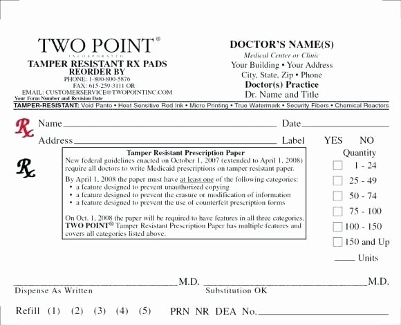 Prescription Pad Template Word – Voipersracing
