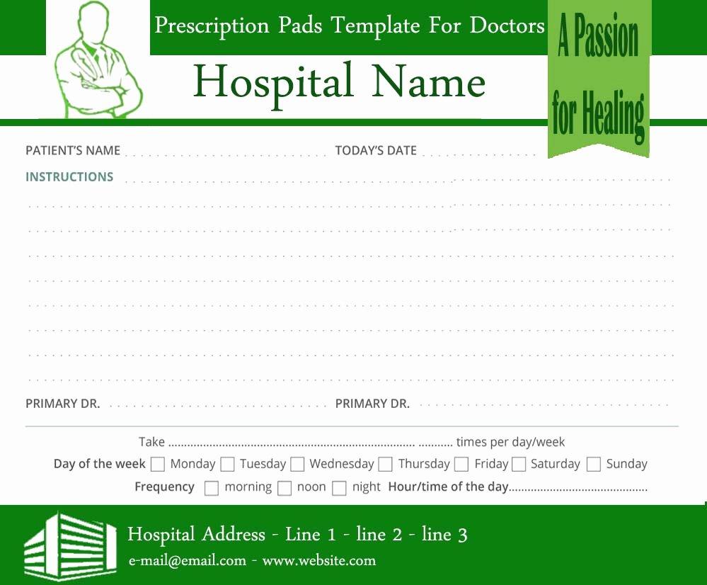 Prescription Pads Template for Doctors