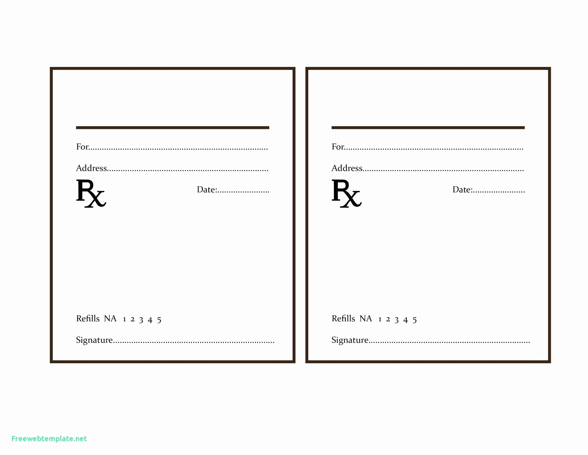 Prescription Template