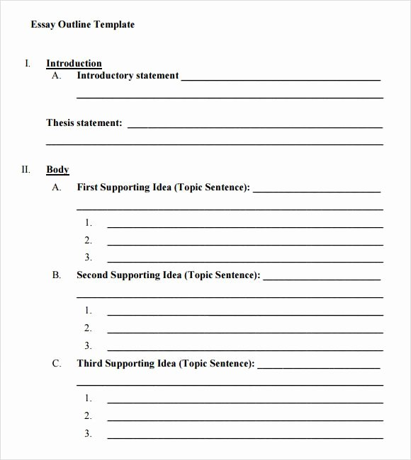 Printable 5 Paragraph Essay Outline Yahoo Image Search