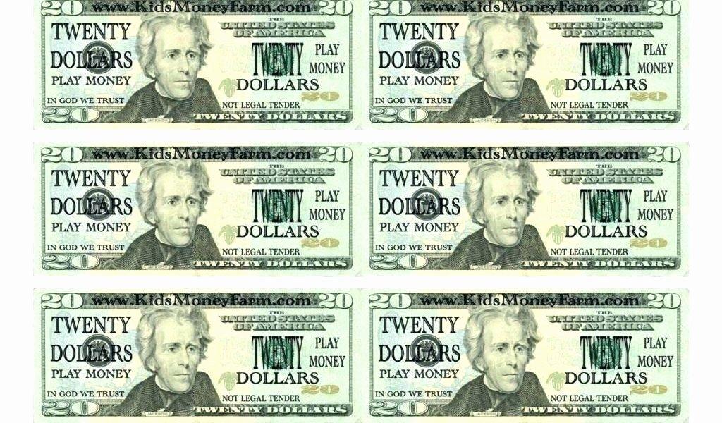 Printable Fake Money the Free Template for Play Fun Etc