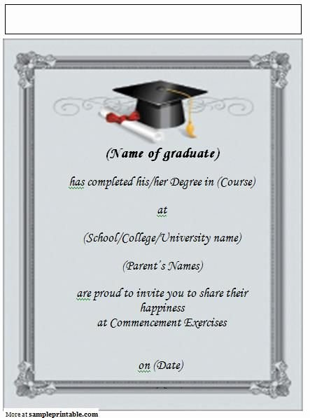 Printable Graduation Announcement Invitation Yep I M
