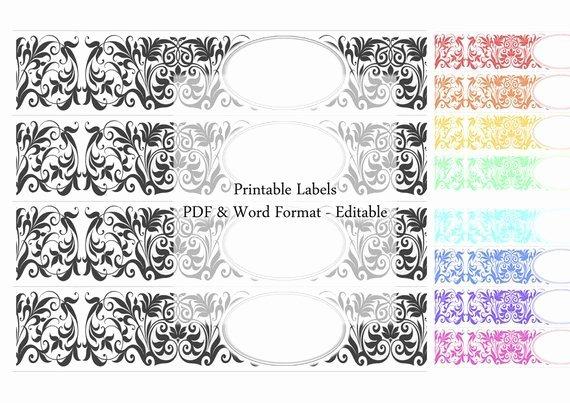 Printable Labels soap Colour Label Set Pastel Rainbow Natural