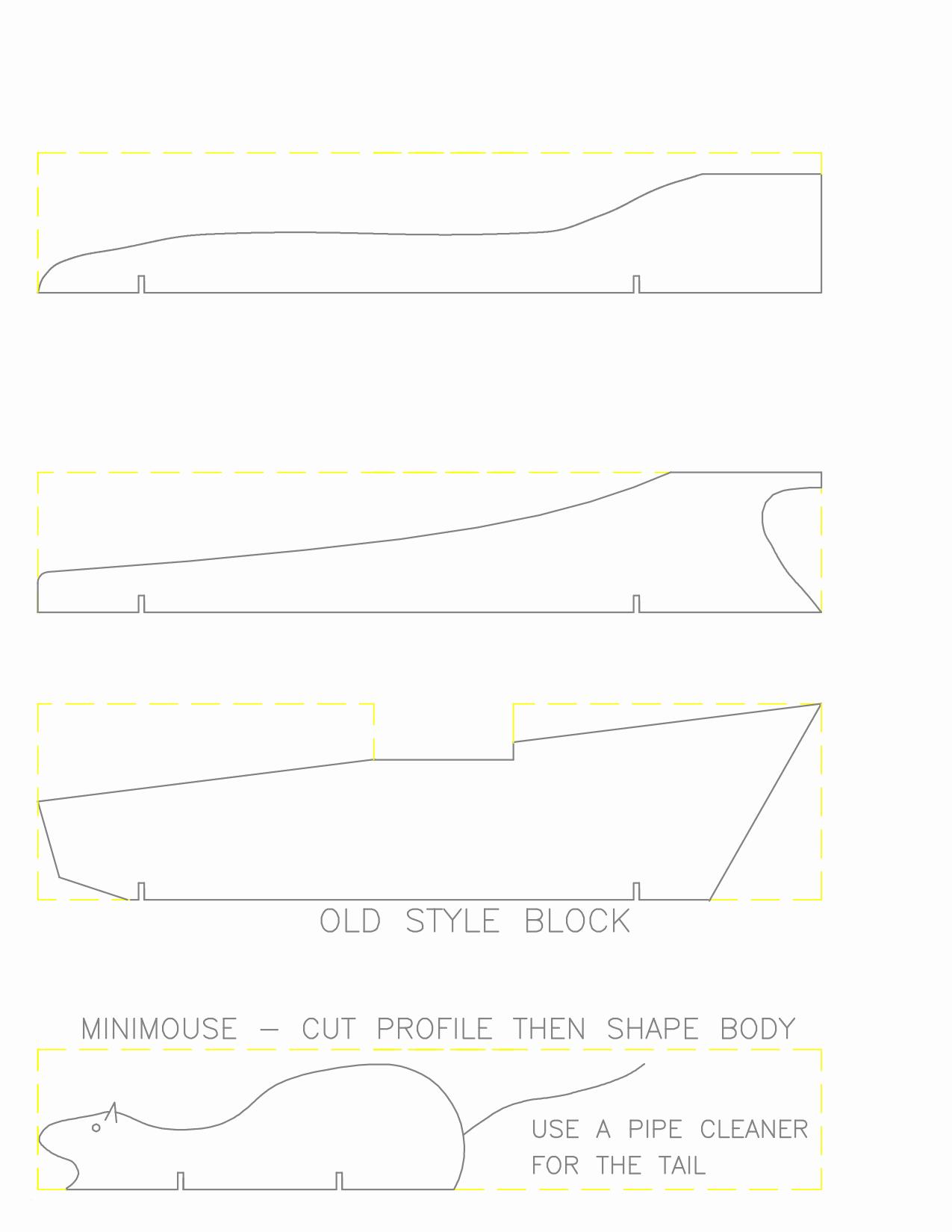 Printable Pinewood Derby Car Templates