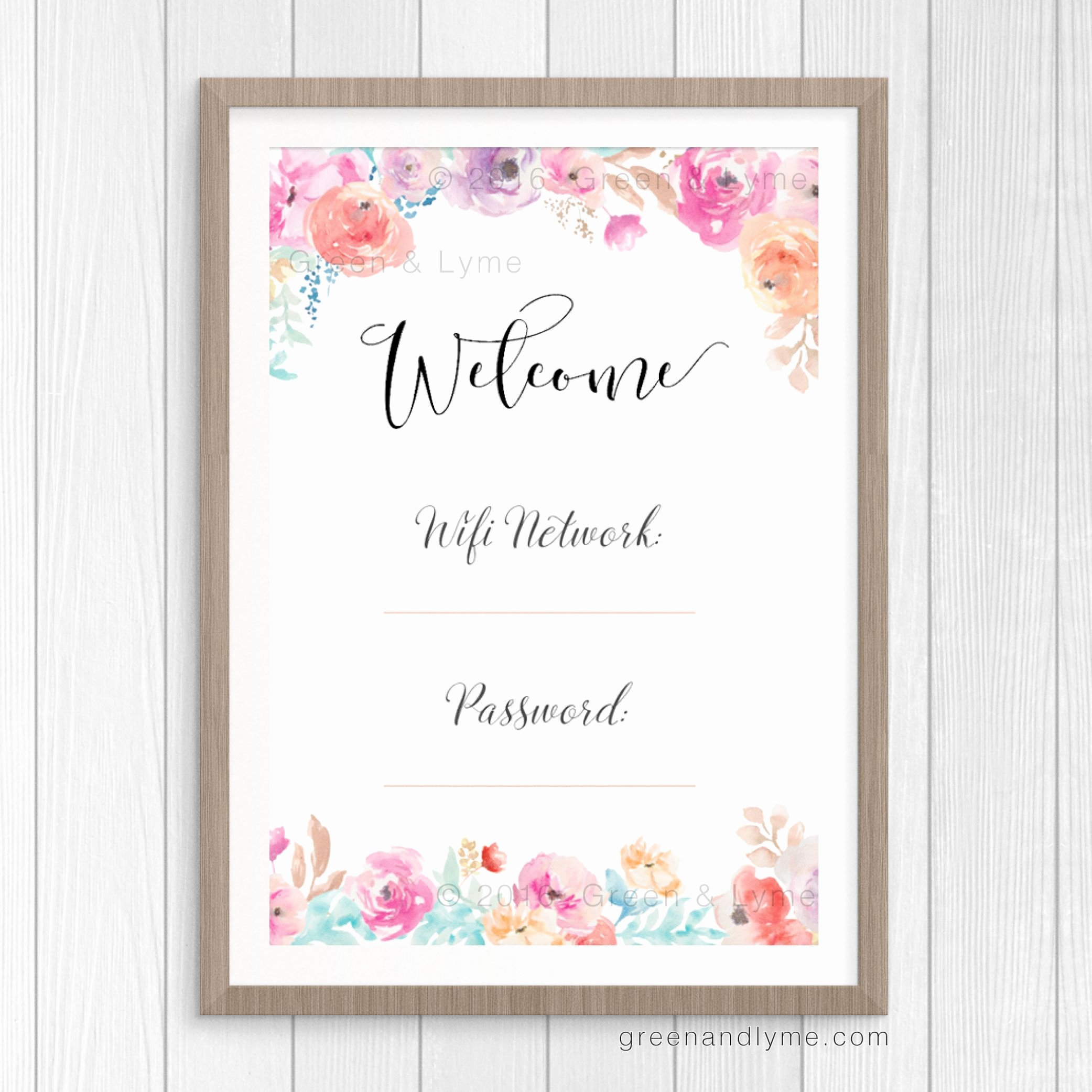 Printable Wall Art Wifi Password Print Free Printable