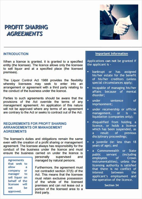 Profit Sharing Agreement 7 Free Pdf Doc Download