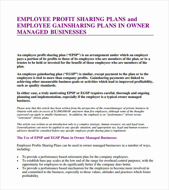 Profit Sharing Agreement – 7 Free Samples Examples