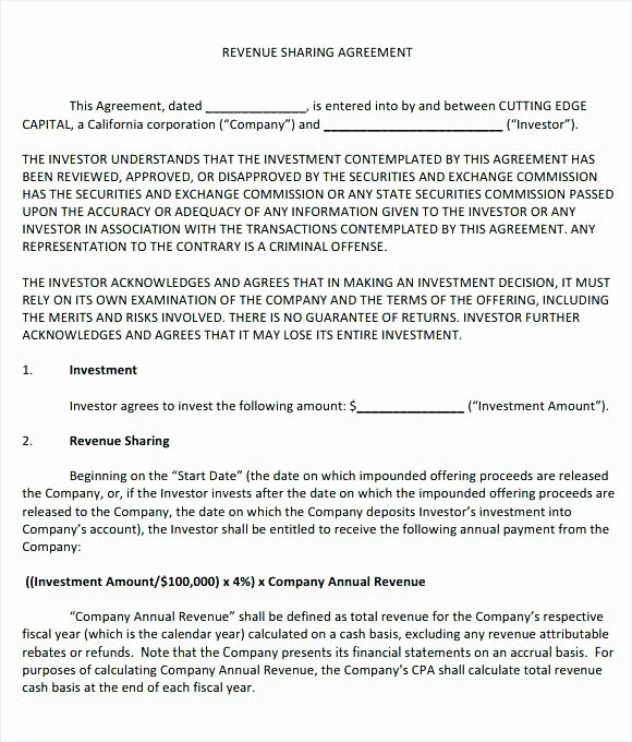 Profit Sharing Contract Template – Bhimail