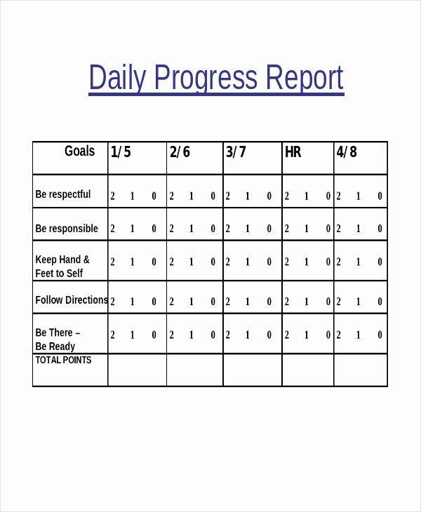 Progress Report Template 50 Free Sample Example