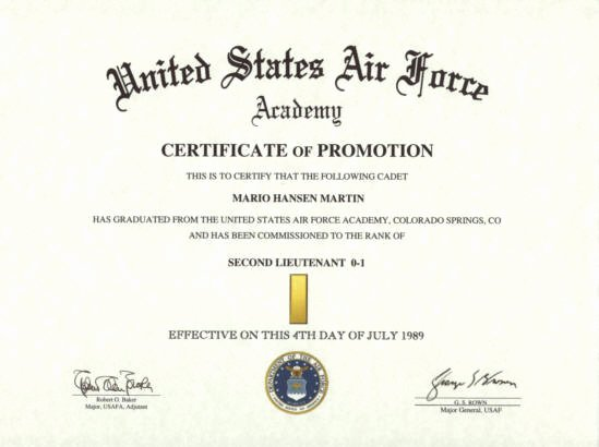 Promotion Citation Army