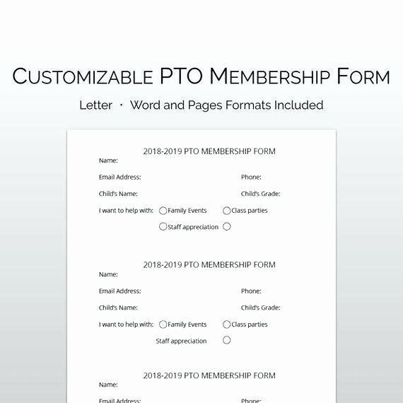 Pto Sign Up Sheet Template