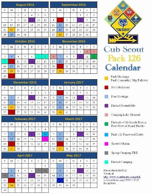 Public Calendar Cub Scout Pack 126 Peoria Arizona