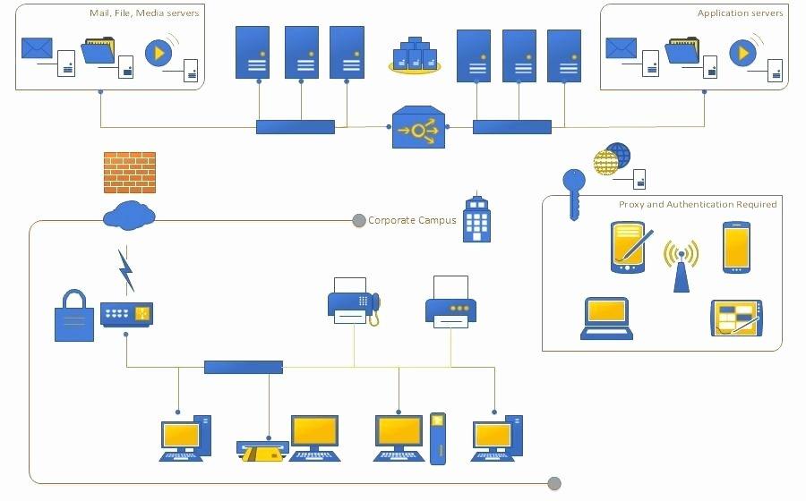 Puter Network Diagram Template Excel Download