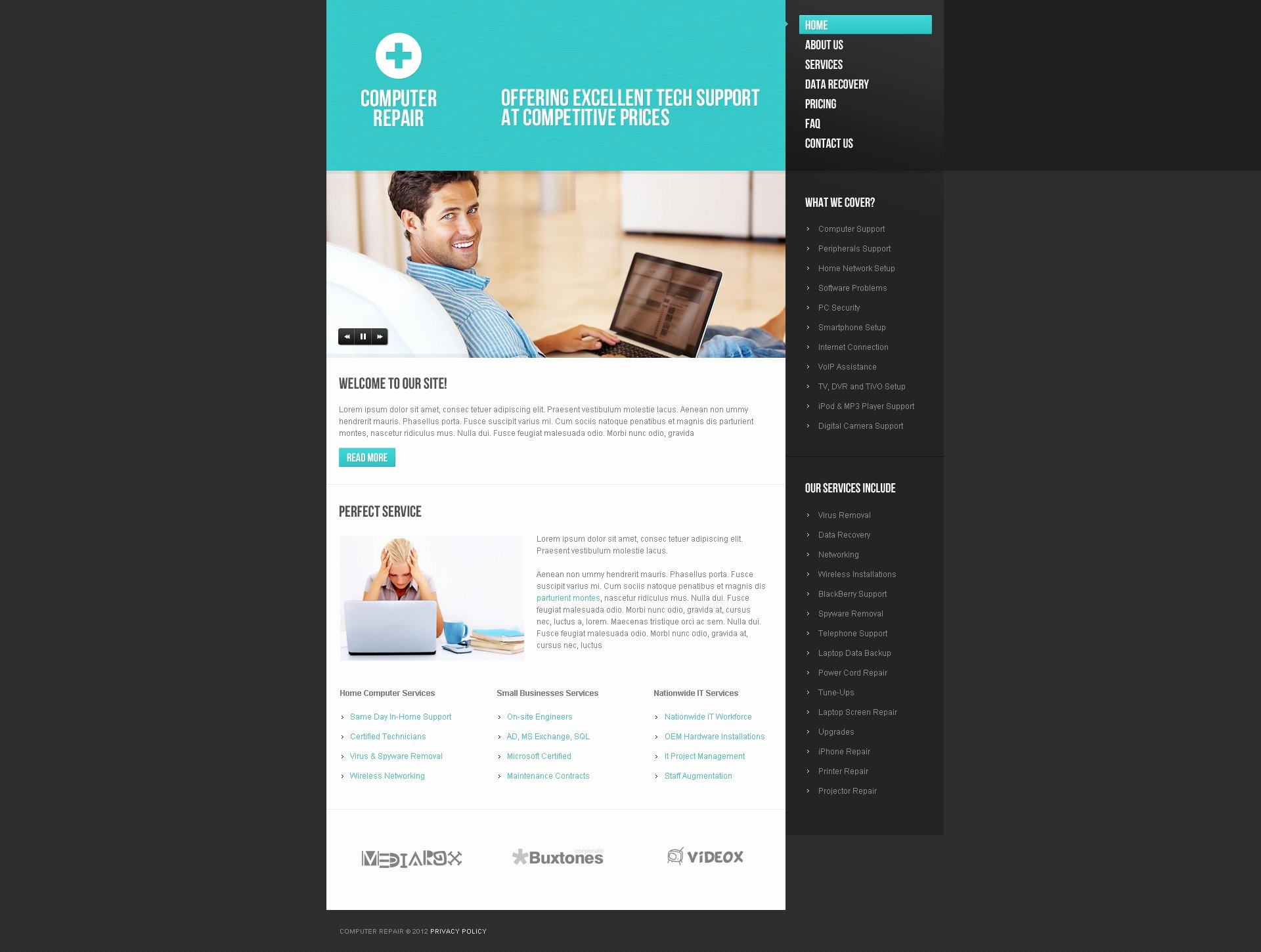 Puter Repair Website Template