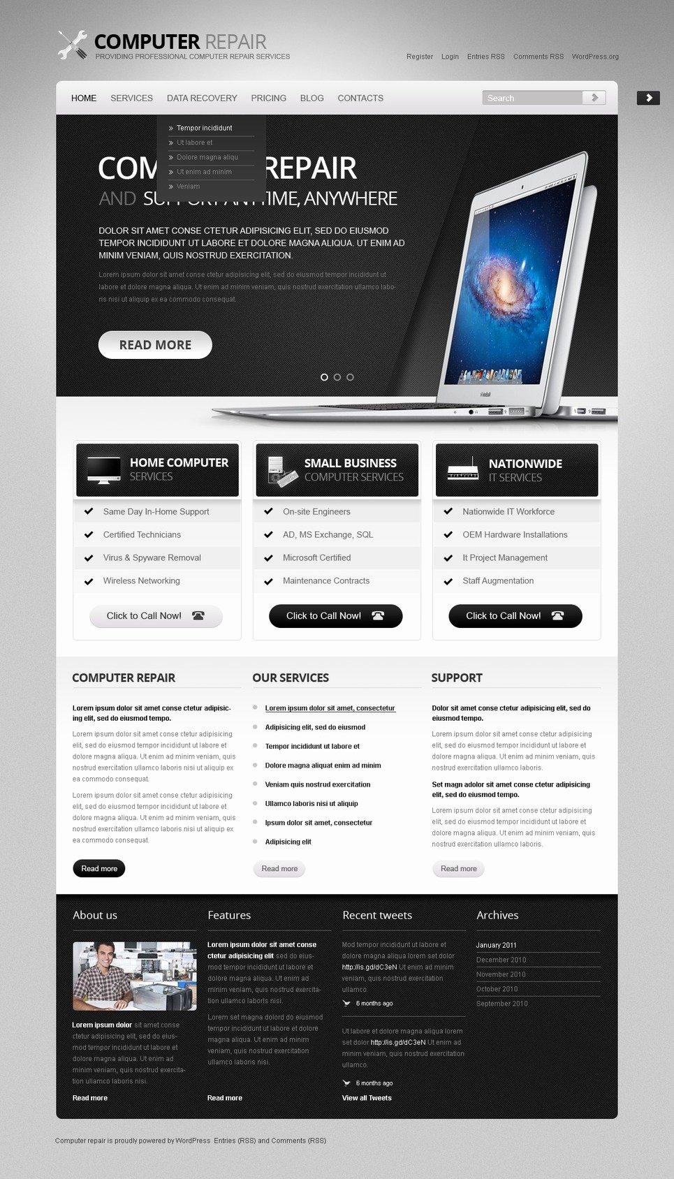 Puter Repair Wordpress theme
