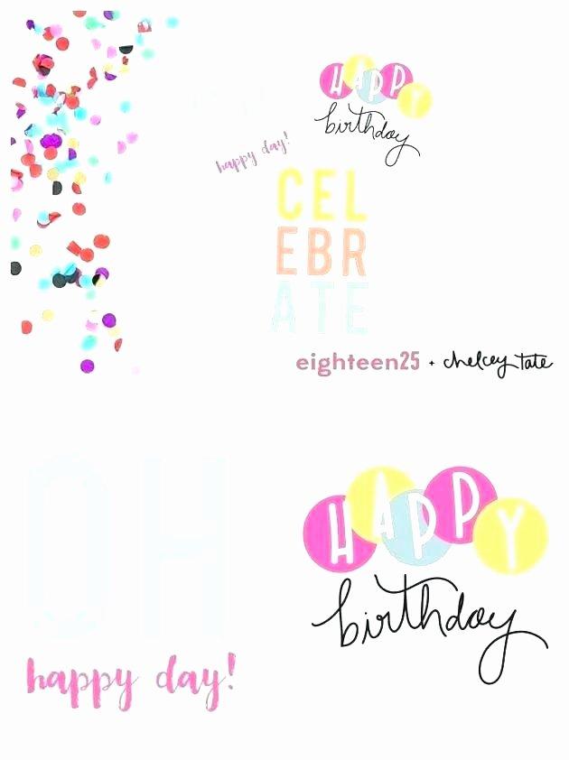Quarter Fold Birthday Card Template Gallery Template