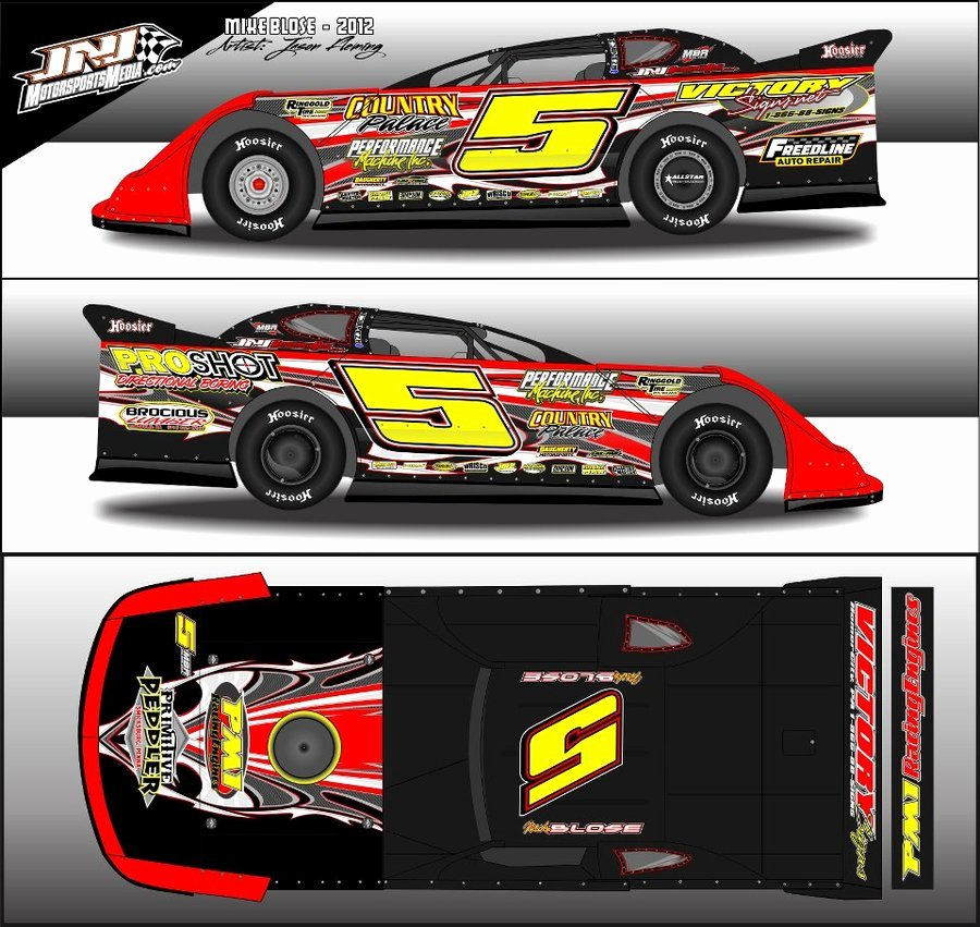 Race Car Graphic Design Templates Free Dirt Late Model