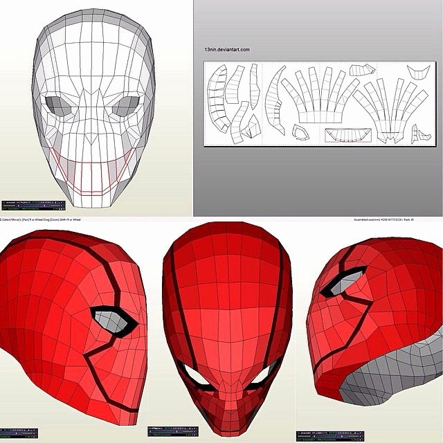 Red Hood Helmet Pepakura Red Hood Costume