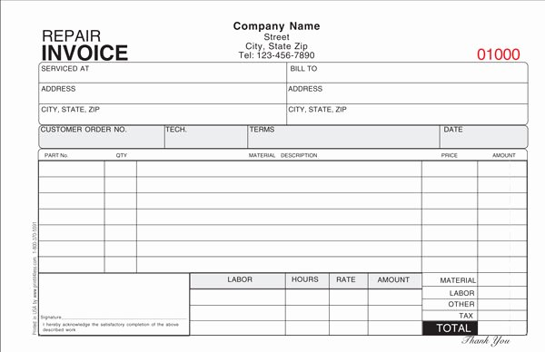 Repair Invoice Template