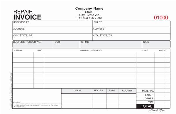 Repair Invoice Template